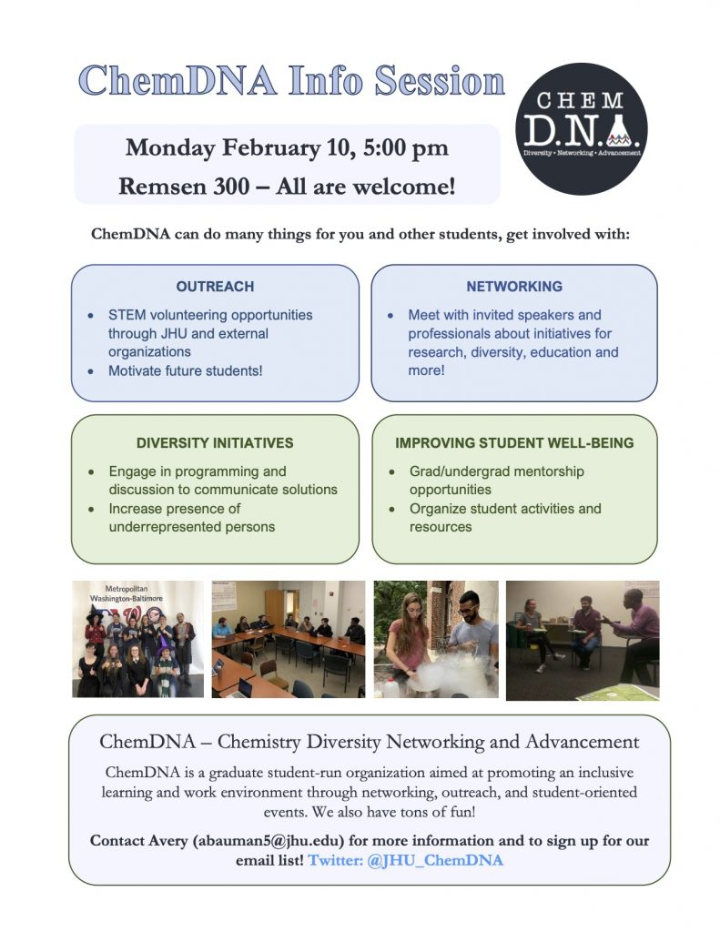 ChemDNA info session flyer