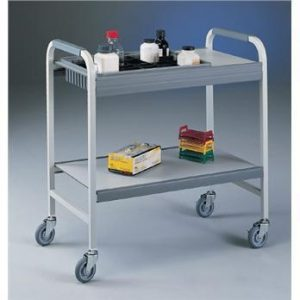 A cart should be used when transporting multiple items or heavy items. Be sure not to place incompatible materials in the same container.