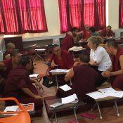 Brenda Rapp teaching monks