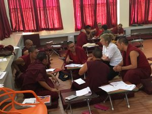Teaching Tibetan Buddhist Monks