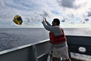 Ali Siddiqui in action at sea