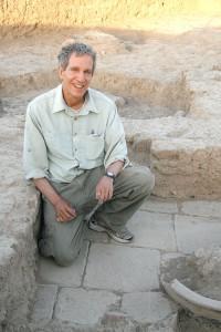 Glenn Schwartz in the corner of a Middle Bronze room, High Mound South Slope.