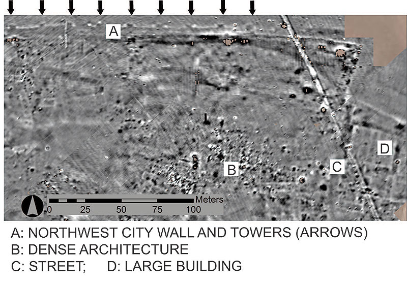 Magnetometry Results, Northwest Lower Town.