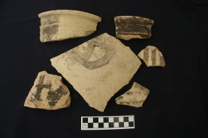Middle Bronze bitumen-painted pottery.