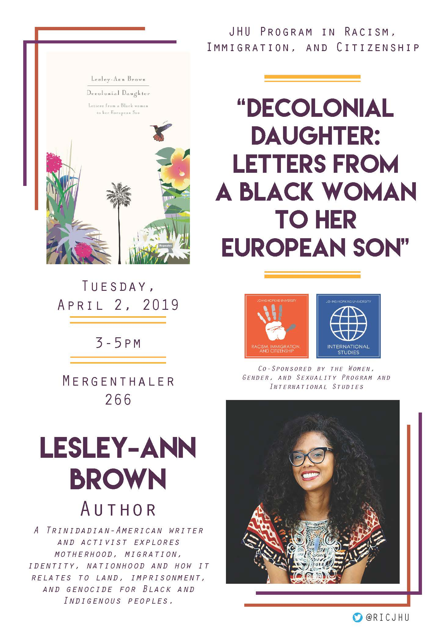 Lesley-Ann Brown Flier