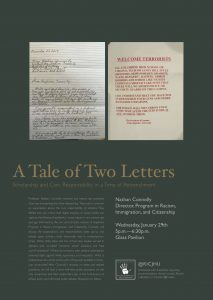Poster for a Tale of Two Letters Talk