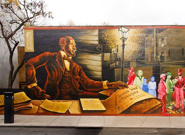 Du Bois mural in Philadelphia