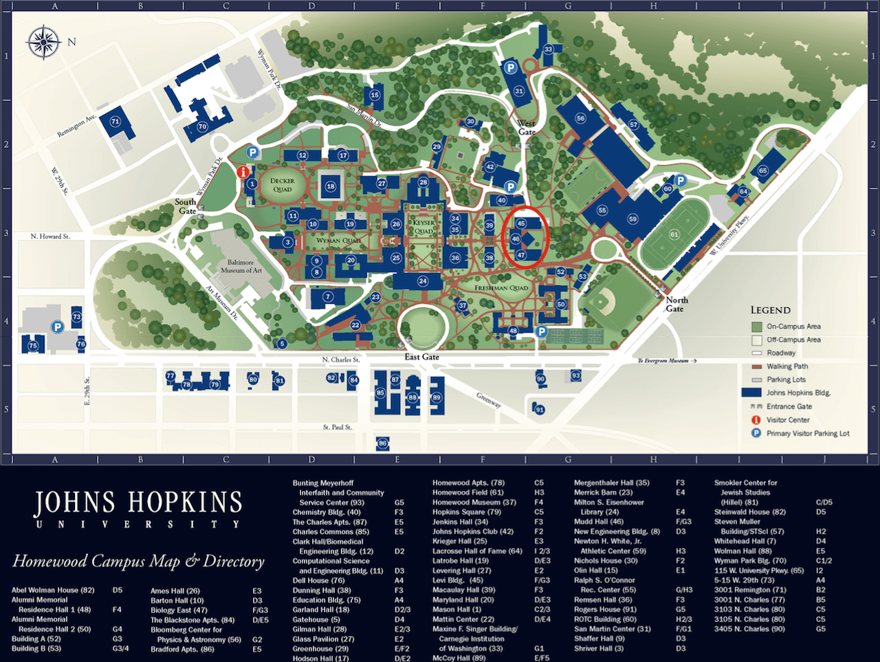 johns hopkins university campus map Contact Us Van Doren Lab Johns Hopkins University johns hopkins university campus map